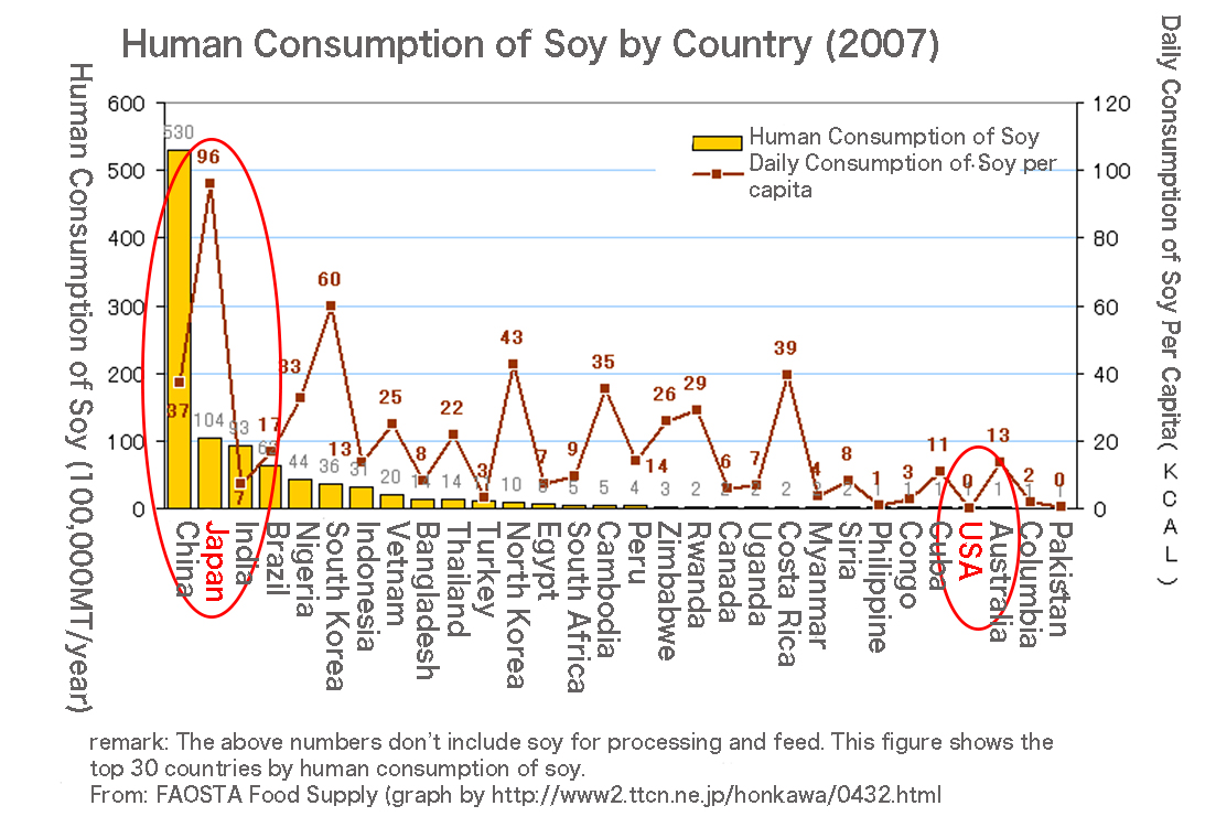 Soy Consumption by country
