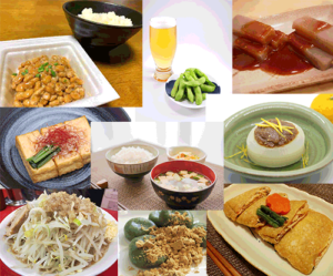 various soy foods