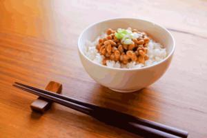 Natto and rice